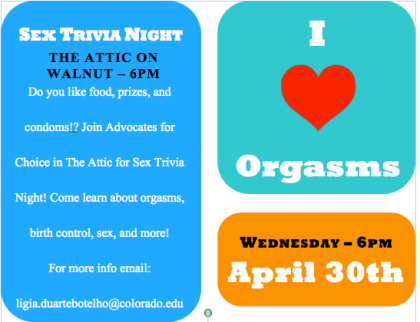 Sex Trivia Night!!!